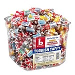 Tub of Assorted Twists Bonomo Turkish Taffy